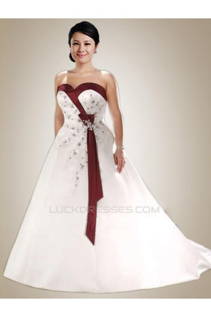 A-line Sweetheart Plus Size Bridal Wedding Dresses WD010369