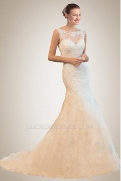 Elegant Trumpet/Mermaid Court Train Lace Bridal Wedding Dresses WD010371