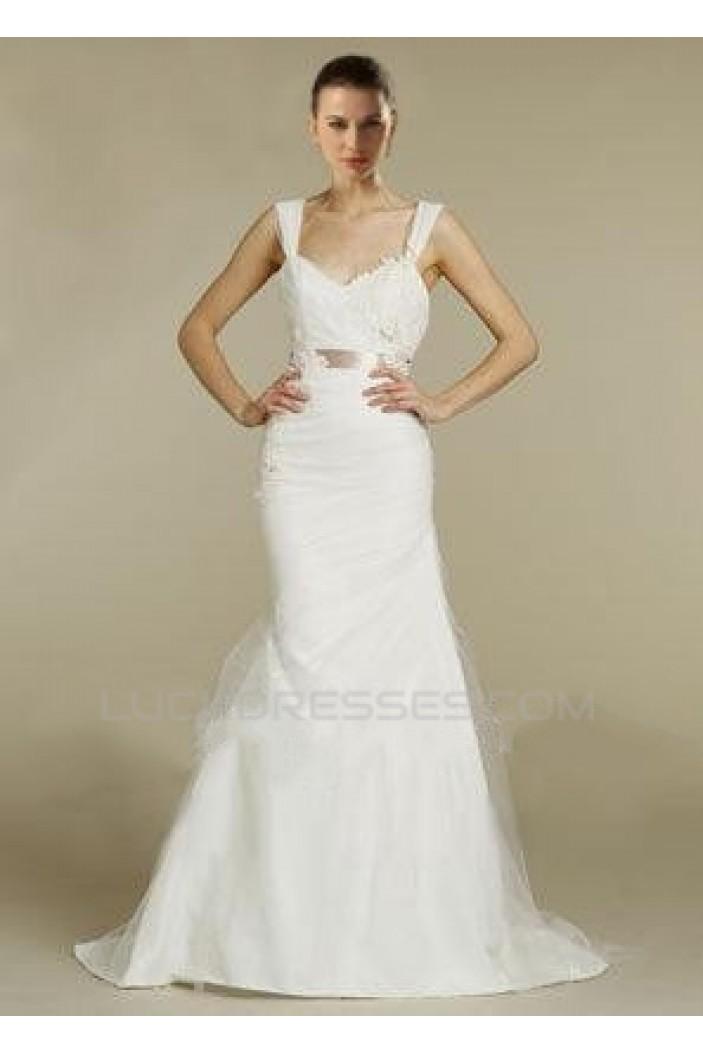 Trumpet/Mermaid Court Train Straps Bridal Wedding Dresses WD010372