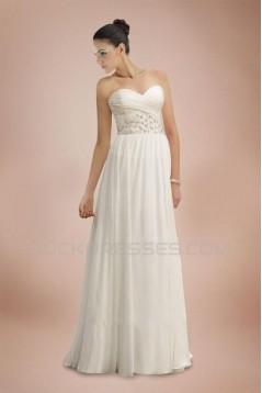 Sheath/Column Sweetheart Sweep Train Bridal Wedding Dresses WD010376