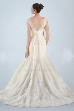 Trumpet/Mermaid Off the Shoulder Lace Bridal Wedding Dresses WD010379