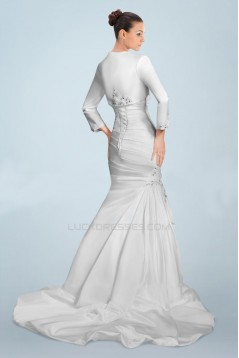 Trumpet/Mermaid Sweetheart Beaded Appliques Bridal Wedding Dresses with A Jacket WD010381