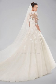 Ball Gown Strapless Lace Bridal Wedding Dresses with A Jacket WD010382