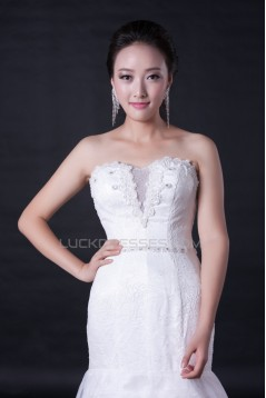 Trumpet/Mermaid Sweetheart Lace and Beaded Bridal Wedding Dresses WD010387