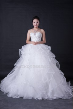Ball Gown Sweetheart Beaded Bridal Wedding Dresses WD010389