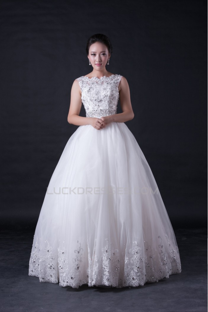 Ball Gown Beaded Appliques Bridal Wedding Dresses WD010391