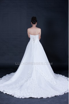 A-line Sweetheart Lace Bridal Wedding Dresses WD010406