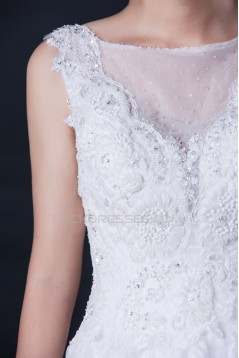 A-line Beaded Lace Bridal Wedding Dresses WD010409