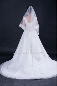A-line Beaded Lace Bridal Wedding Dresses WD010411