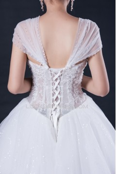 Ball Gown Beaded Lace Bridal Wedding Dresses WD010412