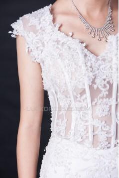 Trumpet/Mermaid Lace Bridal Wedding Dresses WD010416