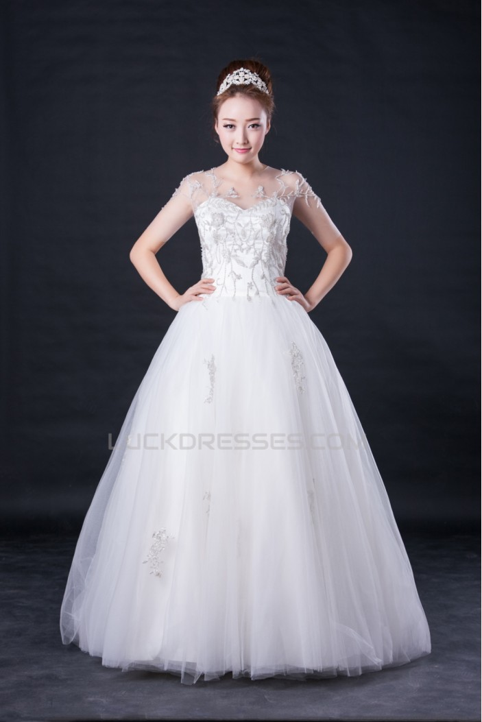 Ball Gown Beaded Bridal Wedding Dresses WD010417