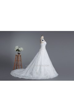 A-line Sweetheart Chapel Train Bridal Wedding Dresses WD010422