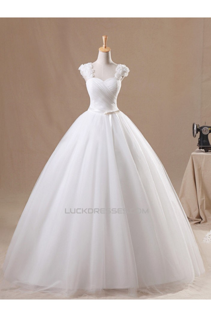 Ball Gown Straps Sleeveless Bridal Gown Wedding Dress WD010437