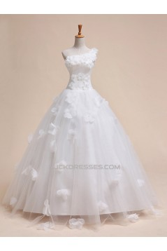 Ball Gown One Shoulder Bridal Gown Wedding Dress WD010438