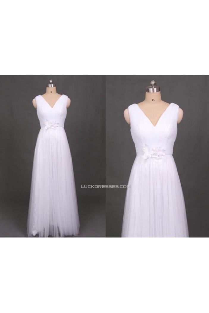 A-line V-neck Straps Bridal Gown Wedding Dress WD010439