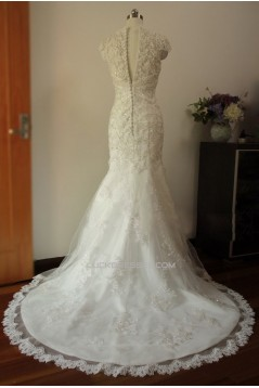 Trumpet/Mermaid Beaded Lace Bridal Gown Wedding Dress WD010448