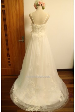 A-line V-neck Bridal Gown Wedding Dress WD010449