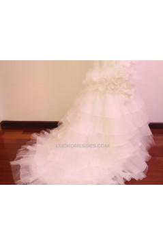 Trumpet/Mermaid Strapless Bridal Gown Wedding Dress WD010450