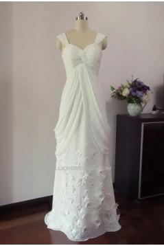 Sheath/Column Straps Chiffon Bridal Gown Wedding Dress WD010452