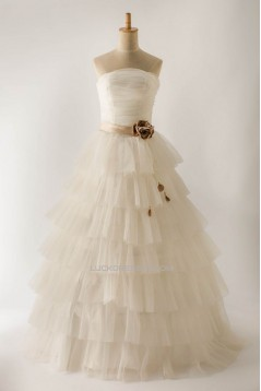 Ball Gown Strapless Bridal Gown Wedding Dress WD010456