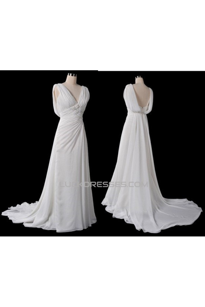 Sheath/Column Chiffon Bridal Gown Wedding Dress WD010458