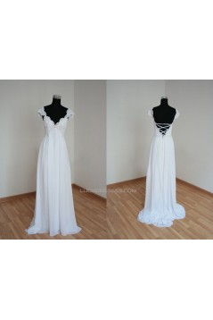 Empire Lace and Chiffon Bridal Gown Maternity Wedding Dress WD010460