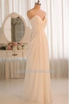 Sheath/Column Sweetheart Chiffon Bridal Gown Wedding Dress WD010463