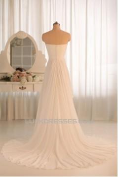 A-line Sweetheart Chiffon Bridal Gown Wedding Dress WD010464