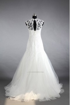 Trumpet/Mermaid Beaded Lace Bridal Gown Wedding Dress WD010468