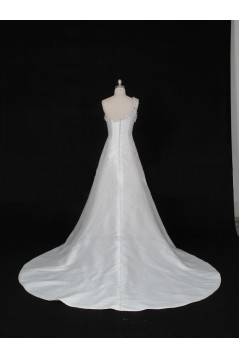 A-line One Shoulder Beaded Bridal Gown Wedding Dress WD010470