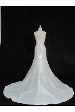 Trumpet/Mermaid Strapless Beaded Bowknot Bridal Gown Wedding Dress WD010471