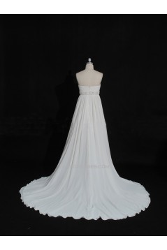 Empire Beaded Chiffon Maternity Bridal Gown Wedding Dress WD010473