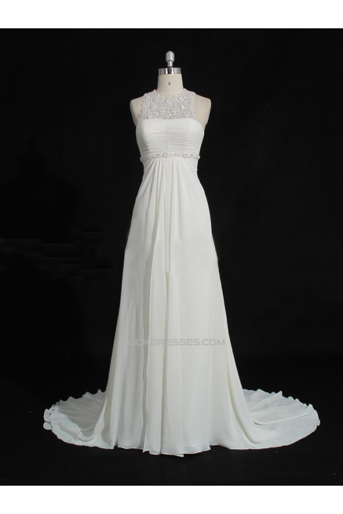 Elegant Chiffon and Lace Bridal Gown Wedding Dress WD010475