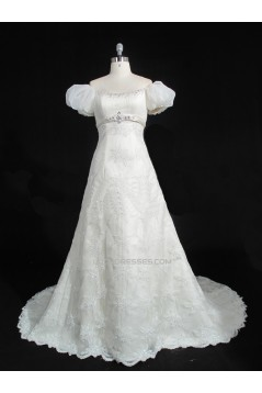A-line Beaded Lace Bridal Gown Wedding Dress WD010482