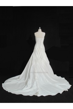 A-line One Shoulder Bridal Gown Wedding Dress WD010488
