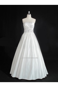 Ball Gown Strapless Beaded Bridal Gown Wedding Dress WD010491