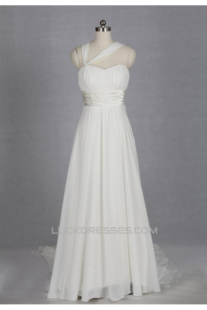 A-line Chiffon Bridal Gown Wedding Dress WD010492