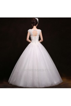 Ball Gown Beaded Lace Bridal Gown Wedding Dress WD010496