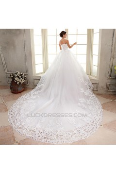 Ball Gown Sweetheart Beaded Lace Bridal Gown Wedding Dress WD010497