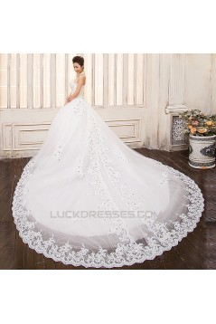 Ball Gown Halter Beaded Lace Bridal Gown Wedding Dress WD010498