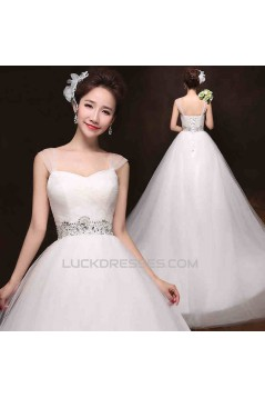 Ball Gown Straps Beaded Bridal Gown Wedding Dress WD010499
