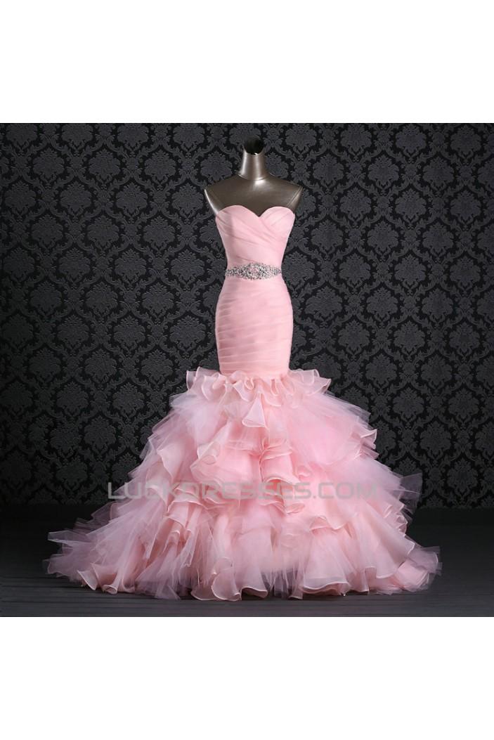 Trumpet/Mermaid Sweetheart Beaded Bridal Gown Wedding Dress WD010500