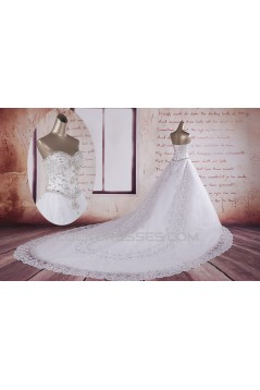 A-line Straps Beaded Bridal Wedding Dresses WD010501