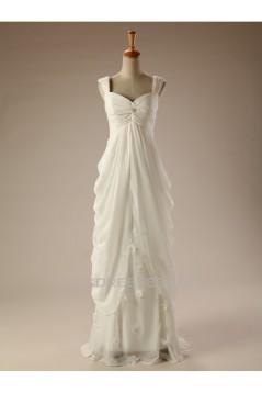 Sheath/Column Straps Chiffon Bridal Wedding Dresses WD010503