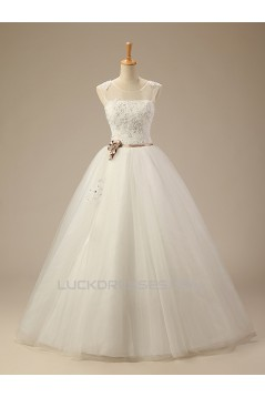 Ball Gown Lace Beaded Bridal Wedding Dresses WD010504