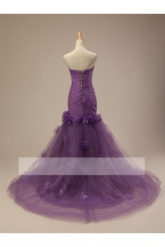 Trumpet/Mermaid Strapless Bridal Wedding Dresses WD010505