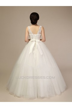 Ball Gown V-neck Lace Beaded Bridal Wedding Dresses WD010506
