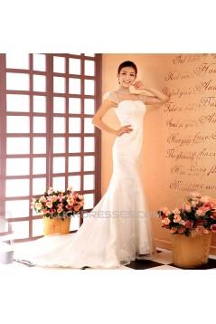 Trumpet/Mermaid Beaded Lace Bridal Wedding Dresses WD010514
