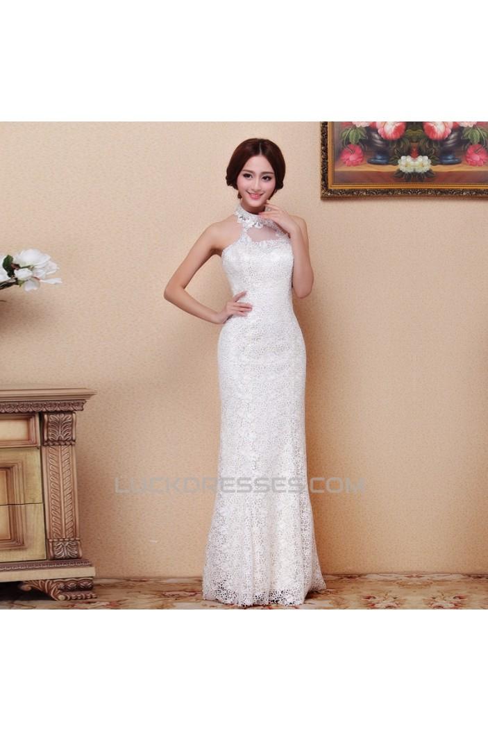 Trumpet/Mermaid Halter Lace Bridal Wedding Dresses WD010515